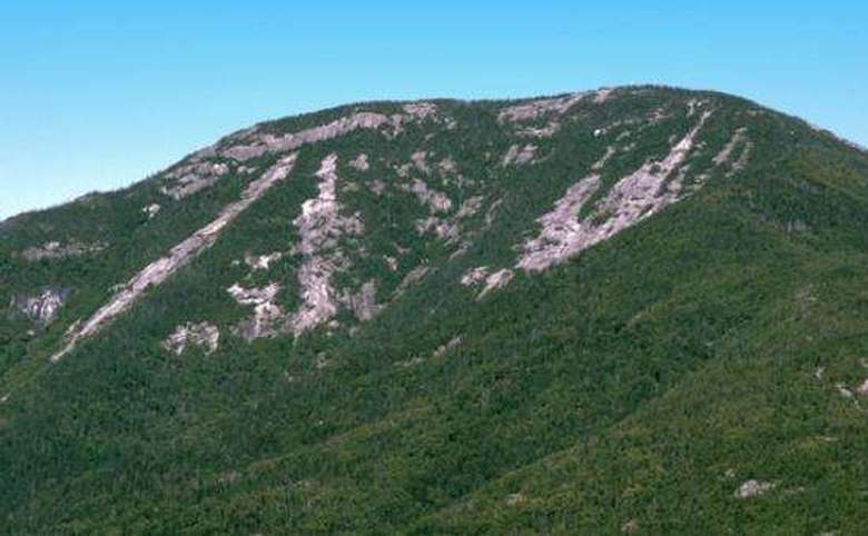 mountain with lots of rocky areas