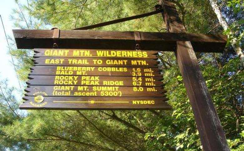 giant mountain wilderness sign