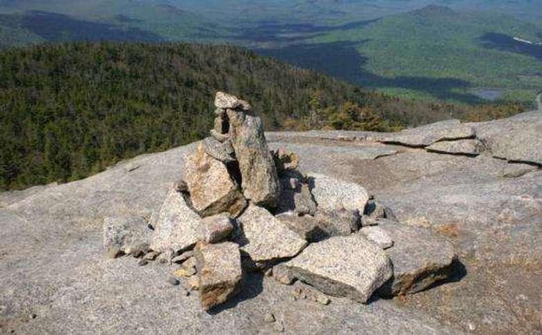 cairn on a mountain summit