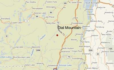 map showing dial mountain