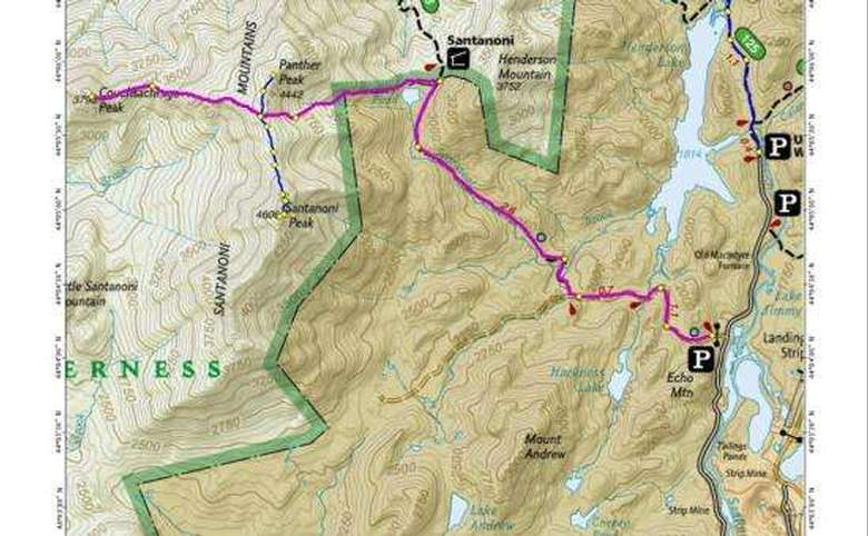 map showing the trail to the couchsachraga summit