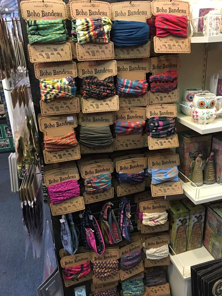 display of boho bandeaus at live love laugh
