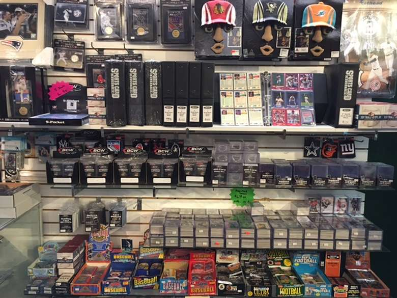 display of trading cards at live love laugh