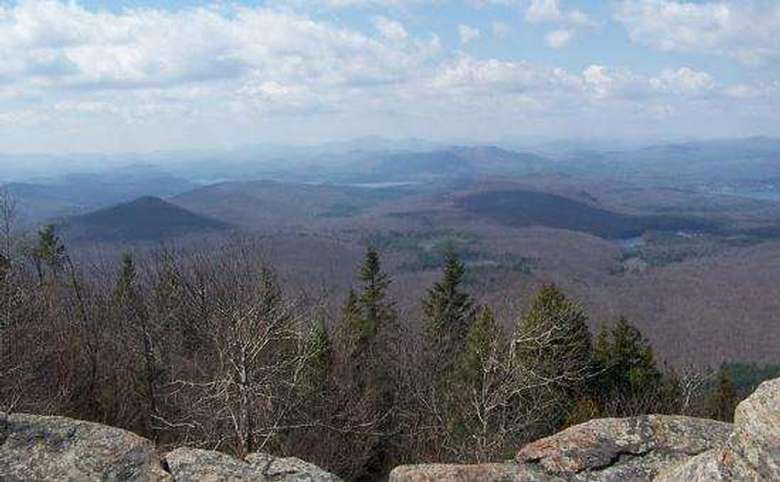 view from a mountain summit in the late fall