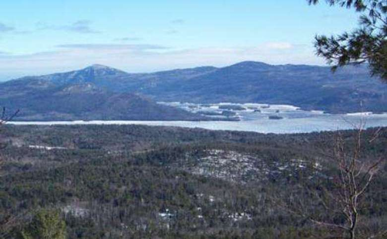 view of lake george from cat mountain