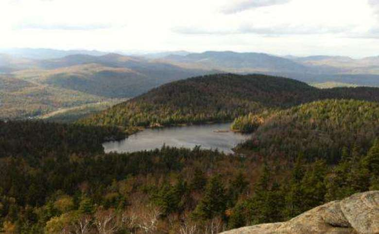 view from the summit of crane mountain in the fall