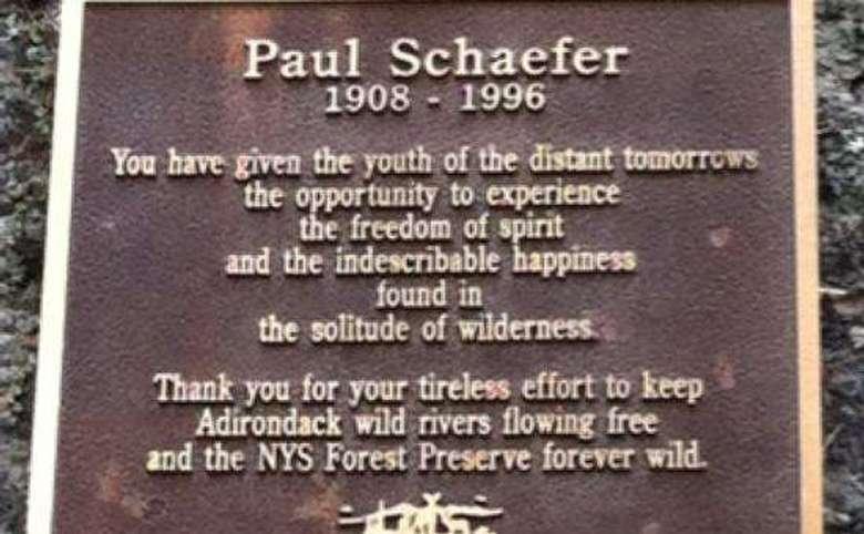 plaque commemorating paul schaefer
