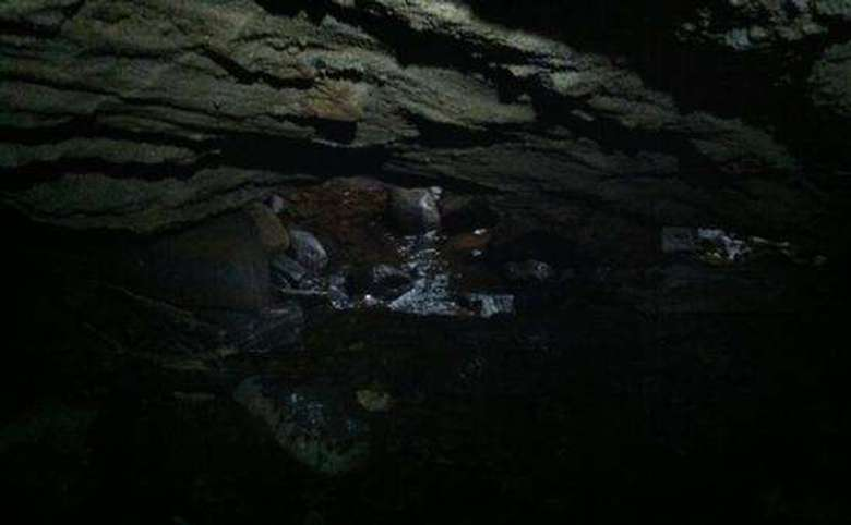 water running in a cave