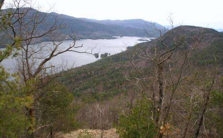 view of lake george from tongue mountain