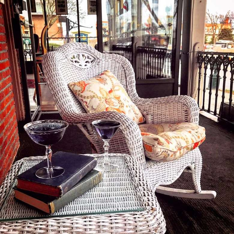 rocking chair on a patio