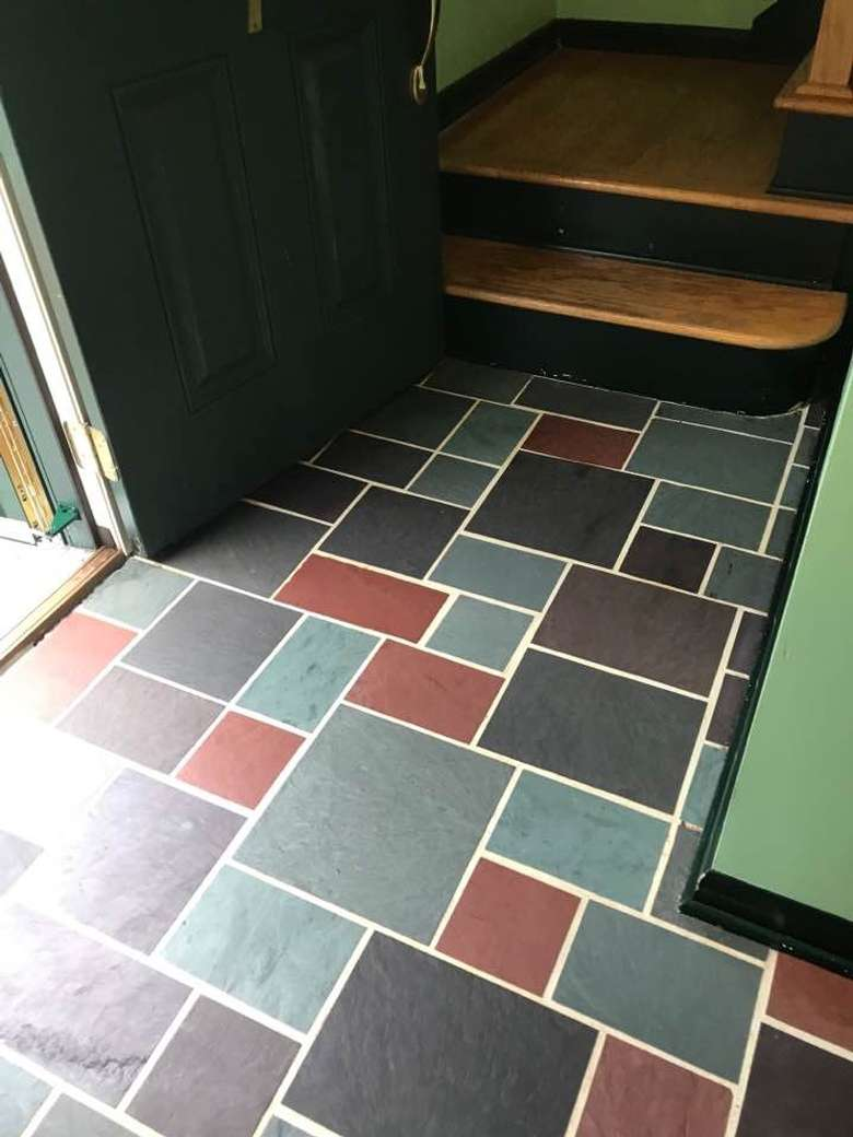 After Slate floor cleaning