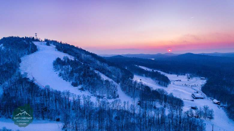 McCauley Mountain in the sunset