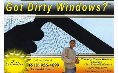 Graphic that says &quote;got dirty windows