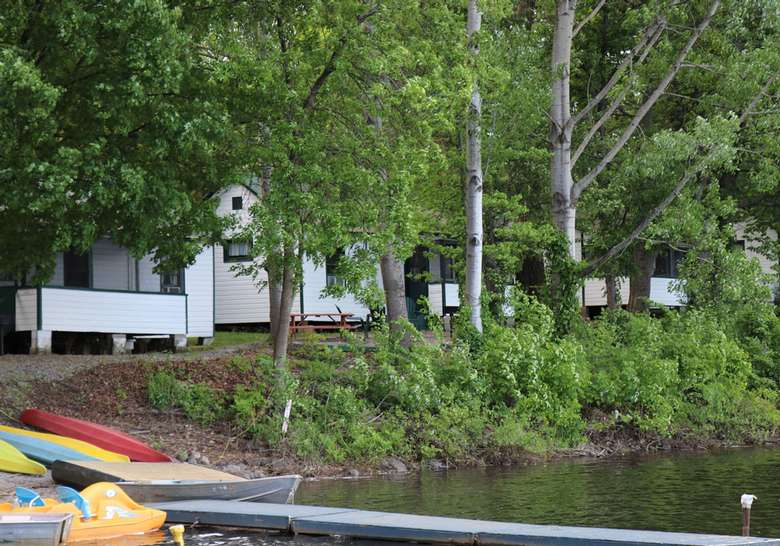 view of the lodge from the water