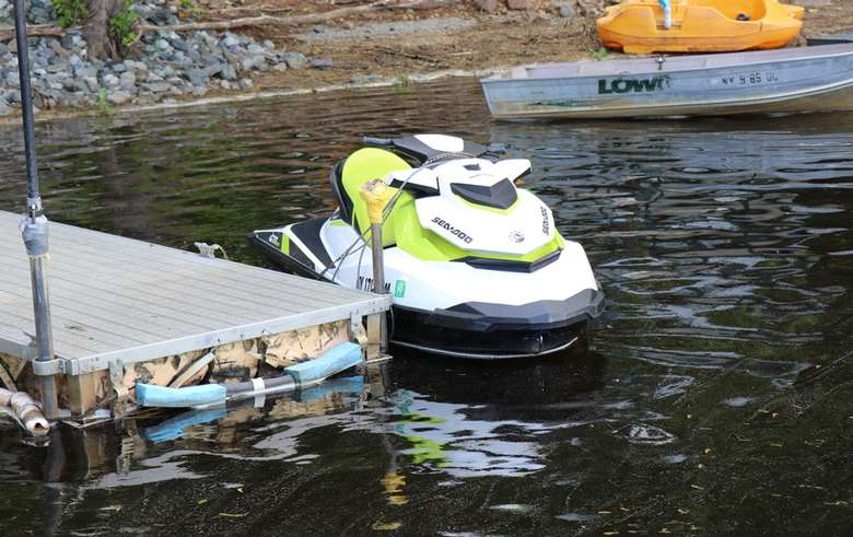 a jet ski at a dock