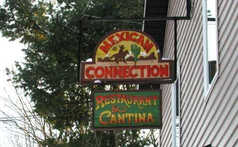 mexican connection restaurant & cantina sign