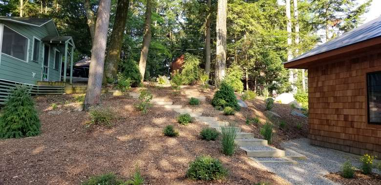 set of outdoor stairs leading up a hill