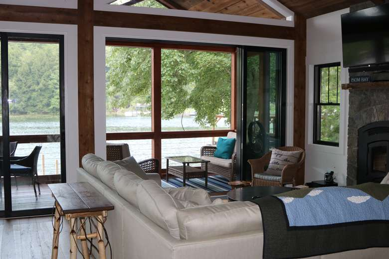 Great Room with views looking out a large porch