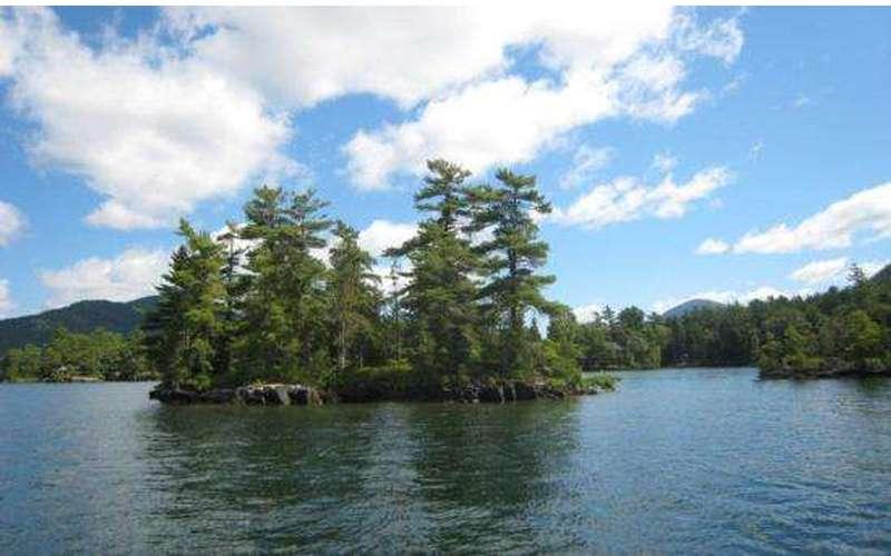 An island in Lake George