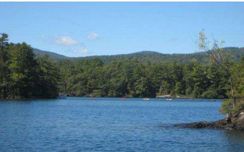 View of islands in Lake George