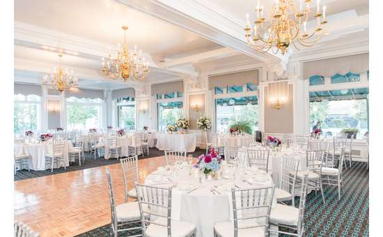 White Lion Room with tables and decorations