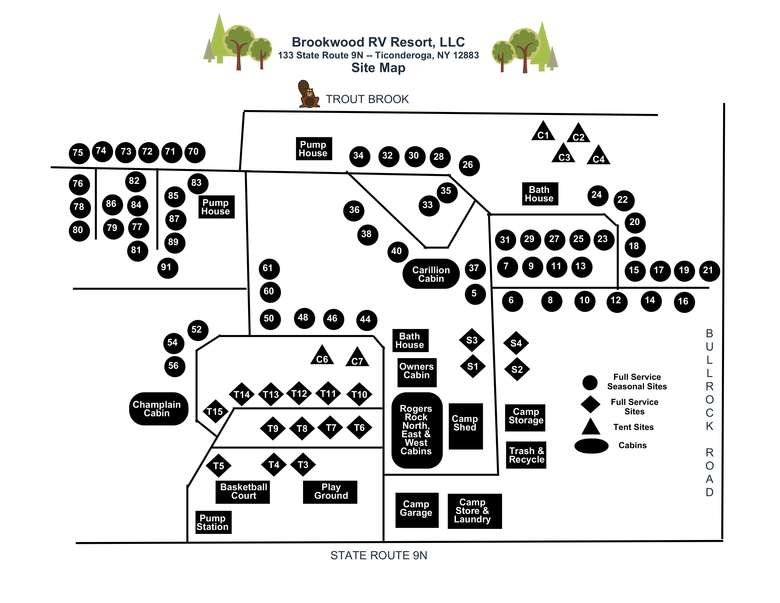 map layout of the resort