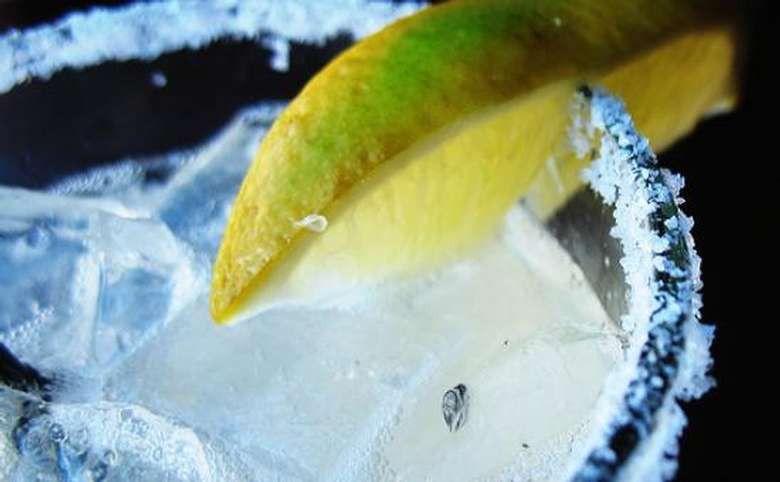 A margerita on the rocks with salt and lime.