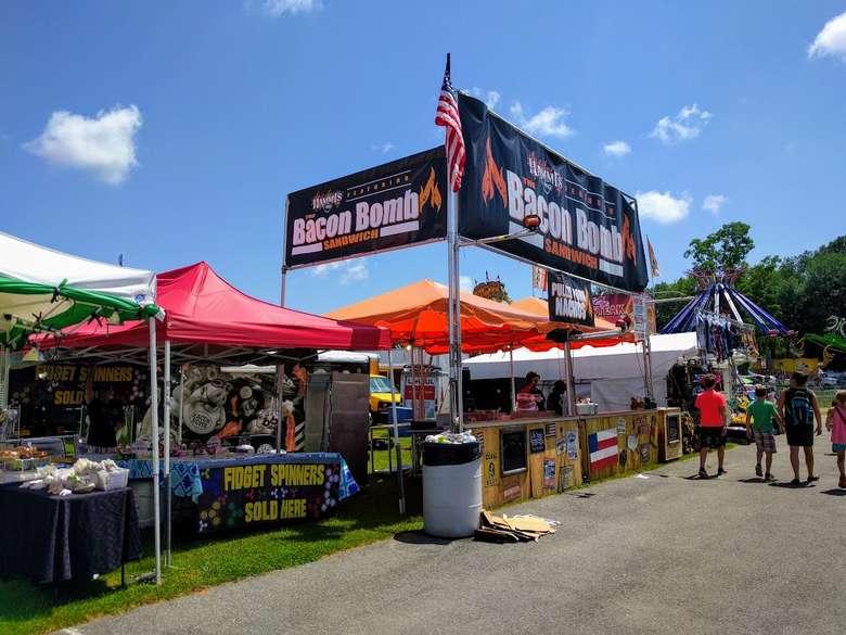 vendor booth for Bacon Bombs