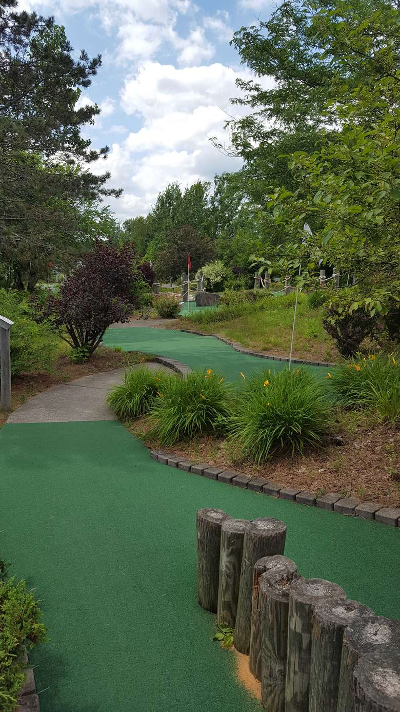 greens at a mini golf course