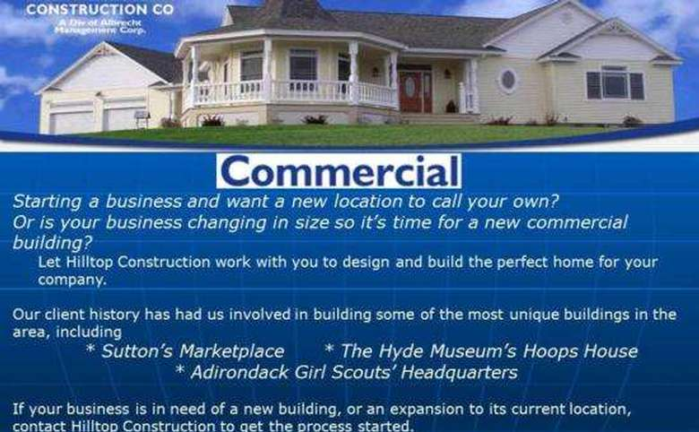 Slide about commercial construction