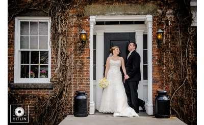 Newlyweds outside of The Century House