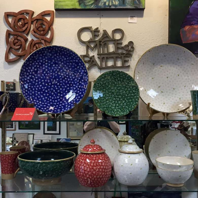 display of plates and bowls