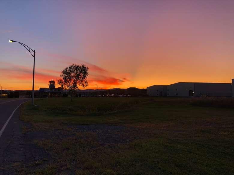 sunrise at hanger front