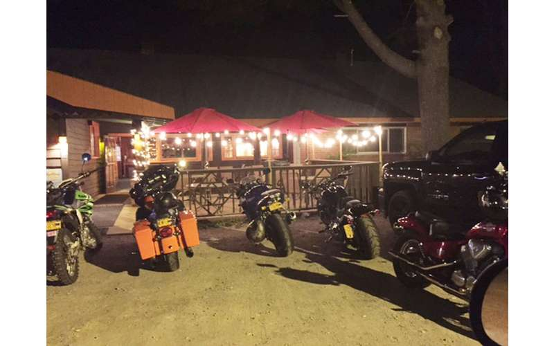 The Long Horn welcomes bikers, locals, and visiting families.