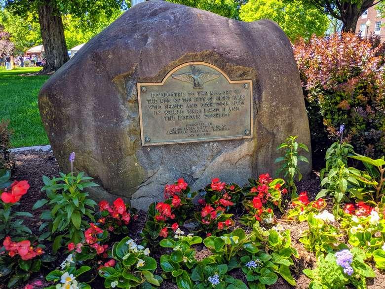 memorial on rock