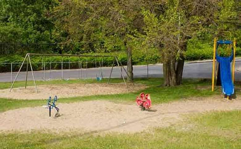 Swings, slides, and other playground toys