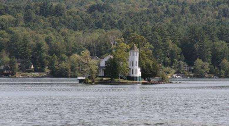 view of brant lake island and residence