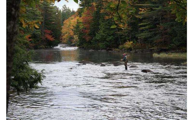 Fishing Indian River In The Adirondacks