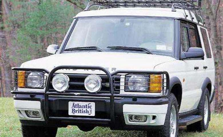 white land rover with atlantic british license plate