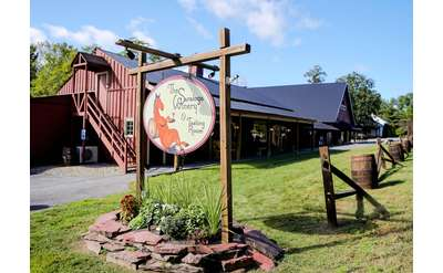 sign and exterior of the saratoga winery