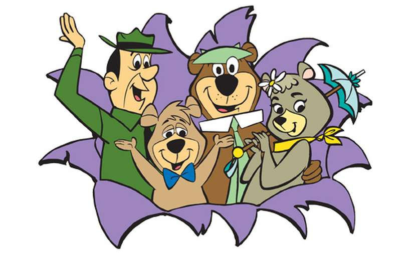 cartoon image of Yogi Bear and friends