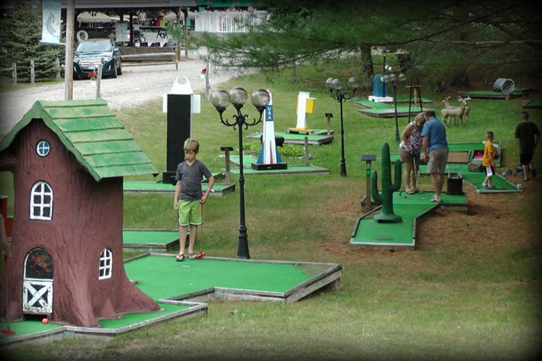 a miniature golf course