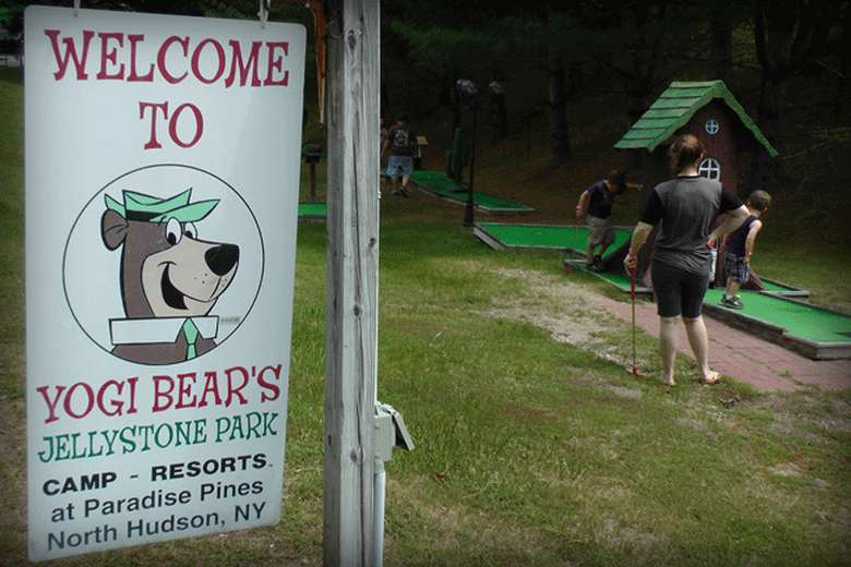 sign for Yogi Bear's park