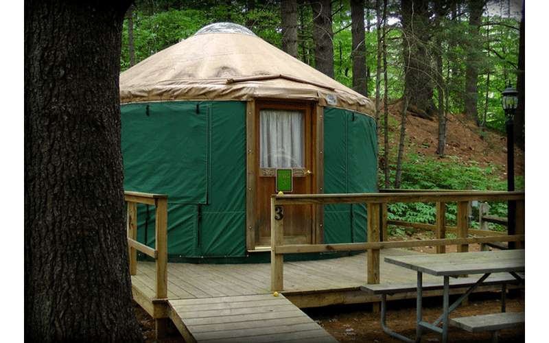 an elaborate tent