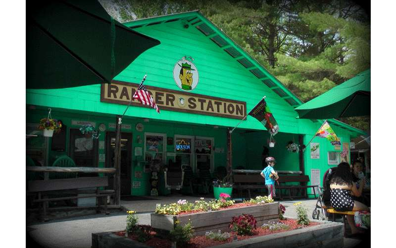 a green ranger station