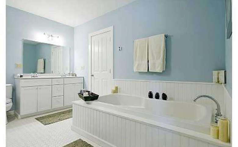 Bath with soaking tub