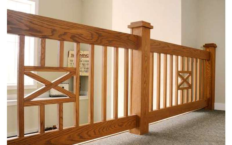 Site built loft railing