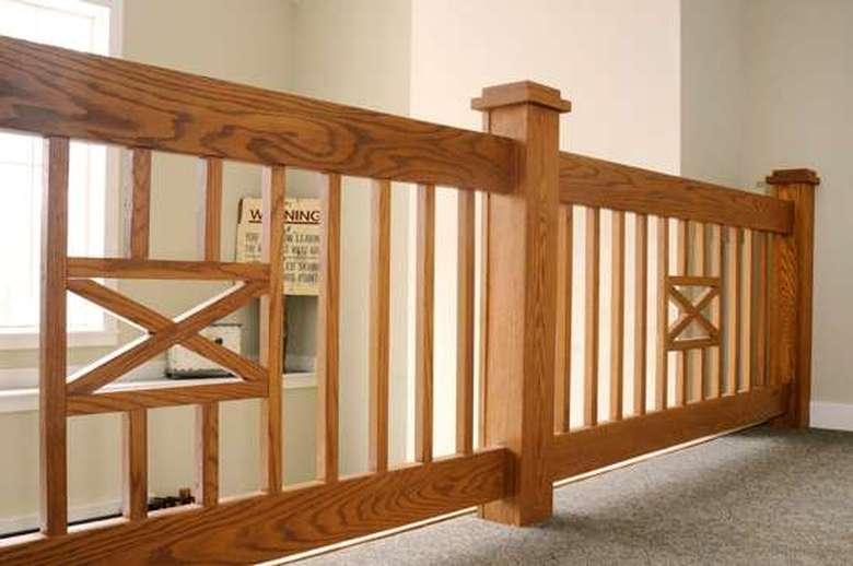 wooden loft railing