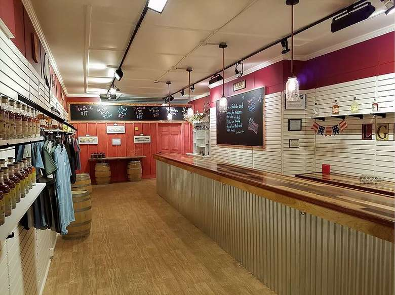 the inside of a store