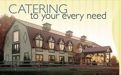 exterior of longfellows with text that says catering to your every need